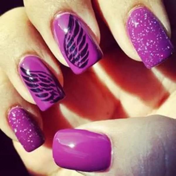 Wings Nail Art