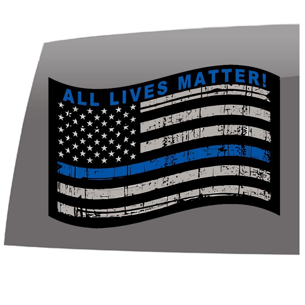 Police Support Flag Sticker – Show your support. – 5 Year – Outdoor ... 55e9acfd28b