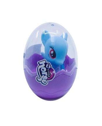 Pony figurica u jajetu. Figurica ponija u praktičnom jajetu koje se otvara i zatvara.