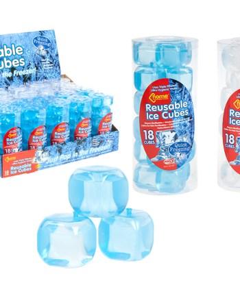 Višekratne led kockice 18 komada. Kockice za led u obliku prave kockice leda, mogu se koristiti uvijek iznova.