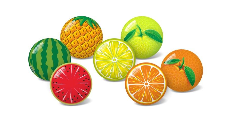 Lopta Pvc Mini Fruit d11cm, Lopta na voće dijametra je 11 centimetara. Loptica odlična za igranje na plaži, u stanu ili kao lopta koju ćete uzeti na put.