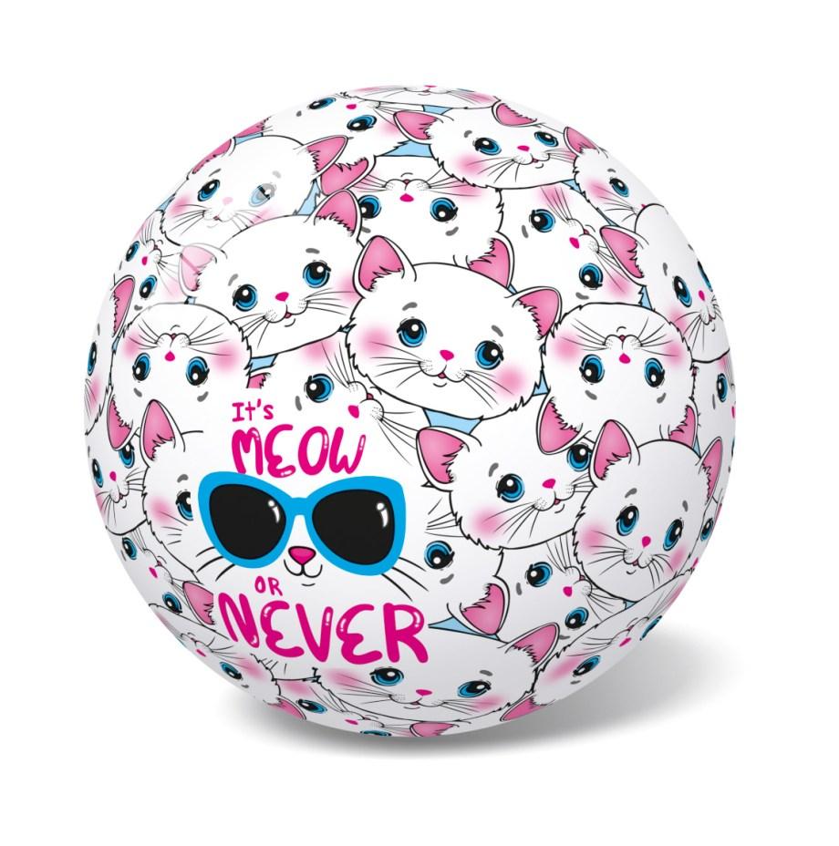 Lopta na mačkicu, Lopta Pvc Meaw or Never d23cm veličine 23 cm prekrasnog je dizajna. Savršena je za sve uzraste, prilagođena za igru na svim površinama i u svim uvjetima.