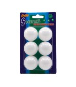 Loptice za stolni tenis, Ping Pong, 6 komada. Proizvod je namijenjen za rekreativne igrače stolnog tenisa, popularnog ping ponga.