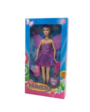 Lutka Vila Fashion+Dodaci, lutka veličine 30 centimetara sa prekrasnom dugom kosom i dodacima.