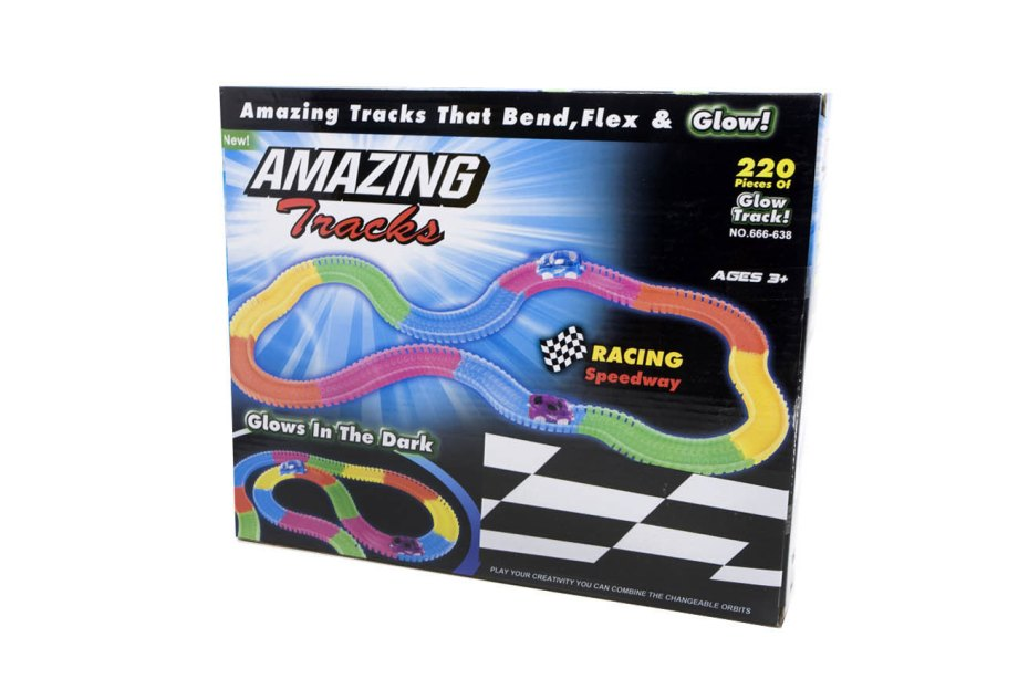 pista auto glow in the dark amazing tracks racing zadnja