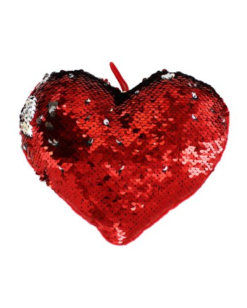 Plišani Jastuk Srce/Sequin 20cm. Plišani jastuk s jedne strane u plišu a s druge u dvobojnim šljokicama.