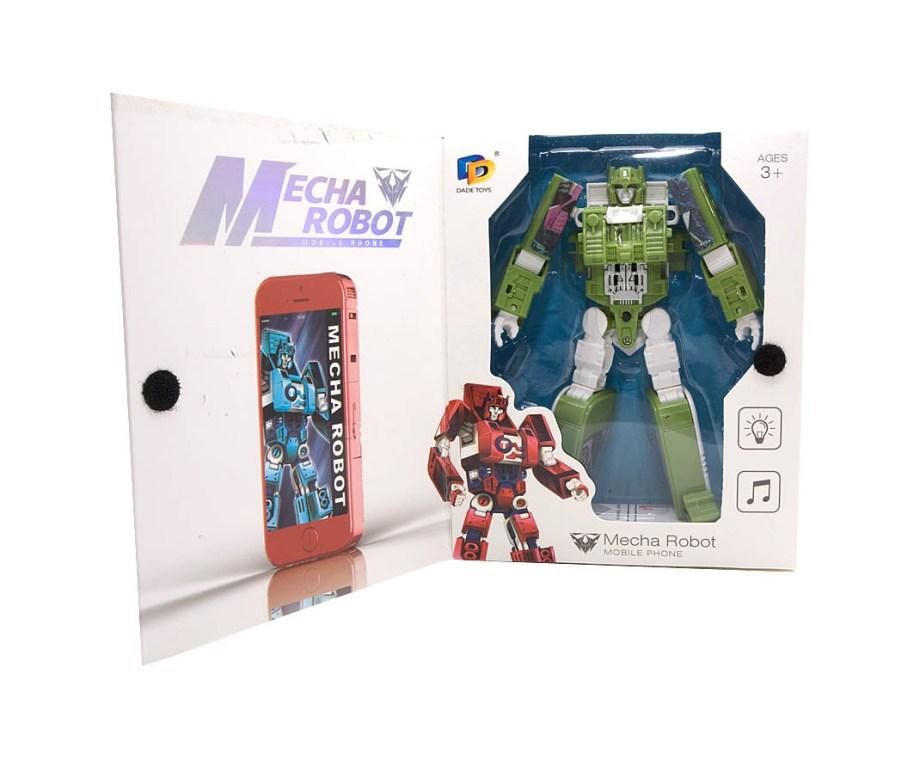 Igračka Robot Mobitel, Transformer. Model plastičnog robota koji se može transformirati u oblik mobitela.
