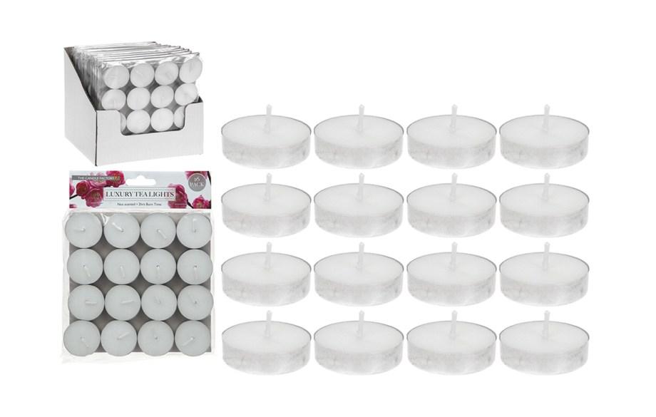 Lumini, Lučice Bijele 16komada, sitne, jednostavne i praktične svijećice koje se koriste u kućanstvu za svakodnevno stvaranje posebne atmosfere ili za neke posebnije prilike.