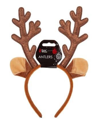 Božićni rajf rogovi, simpatični rajf sa rogovima i ušima od soba sa sjajnim gliterom.