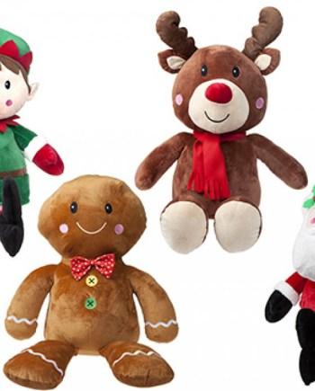 Plišani likovi Božićni, Božićni plišanci veličine 71 centimetar. Prekrasni božićni plišani likovi su savršeni za ukrašavanje svakog doma