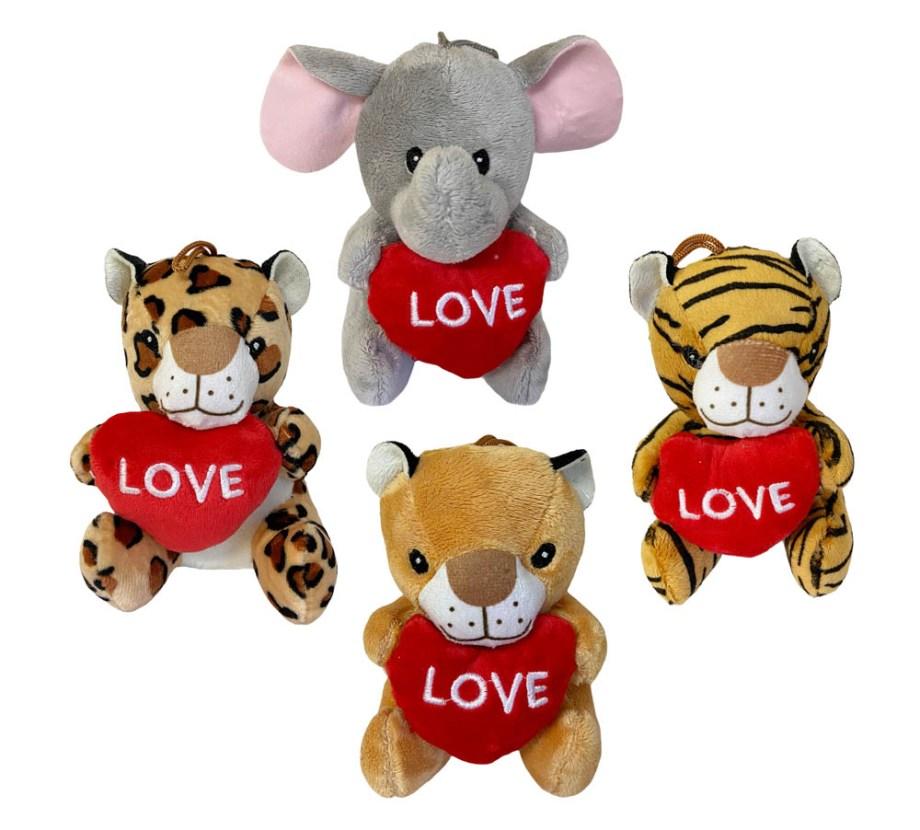 Plišane životinje sa srcem, Savana plišanci LOVE. Prekrasni plišanci sa srcem u naručju na kojem je napisano LOVE.