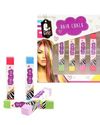 Boja za kosu u kredi, 6 boja, Hair Chalk Girlz! Boja za kosu koja se lagano nanosi i još lakše skida.