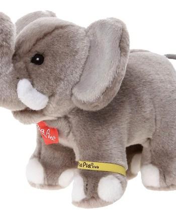 Plišani Slon 17cm, Sivi plišanac slon PiaPia. Plišana linija Pia Pia Club predstavlja odabrane materijale i dizajne u izradi plišanih igračaka.