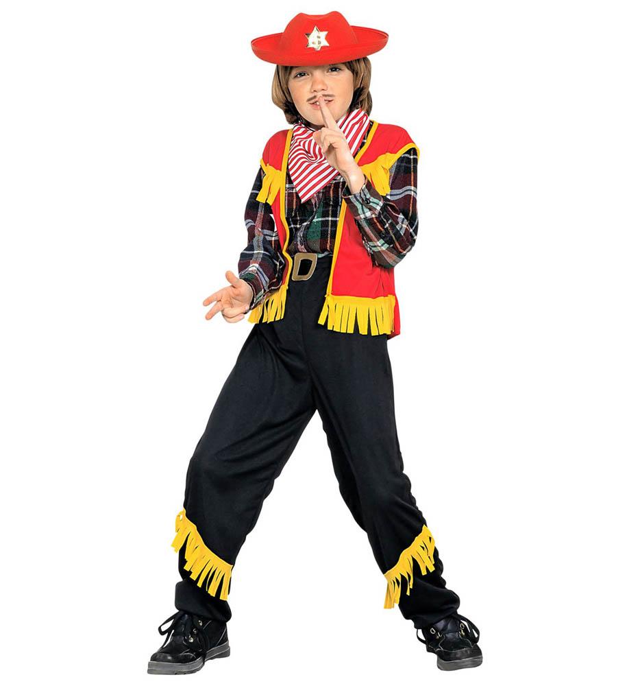 Kostim Cowboy 5-7 godina, karnevalski kostim. Kostim je namjenjen djeci između 5-7 godina. Savršen je za lude partije, proslave Halloweena ili karnevalske povorke.