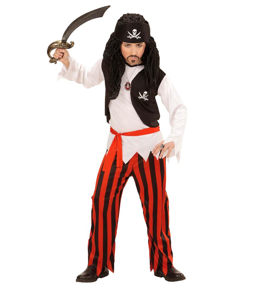 Kostim dječji Gusar Skull, Gusarski kostim. Kostim je namjenjen djeci između 4-5 godina. Savršen je za lude partije, proslave Halloweena ili karnevalske povorke.