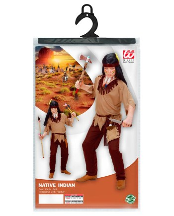 Kostim Indijanac 5-7 godina, karnevalski kostim. Kostim je namjenjen djeci između 5-8 godina. Savršen je za lude partije, proslave Halloweena ili karnevalske povorke.