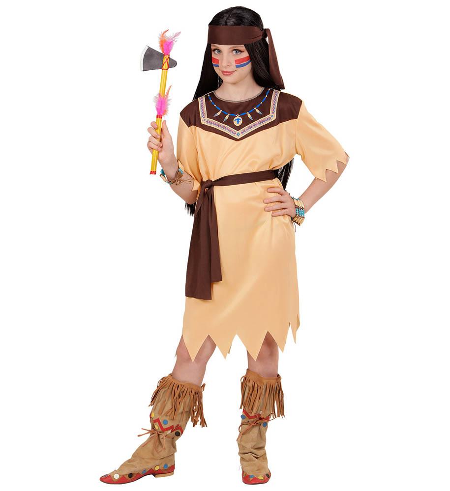 Kostim Indijanka 8-10 godina, karnevalski kostim. Kostim je namjenjen djeci između 8-10 godina. Savršen je za lude partije, proslave Halloweena ili karnevalske povorke.