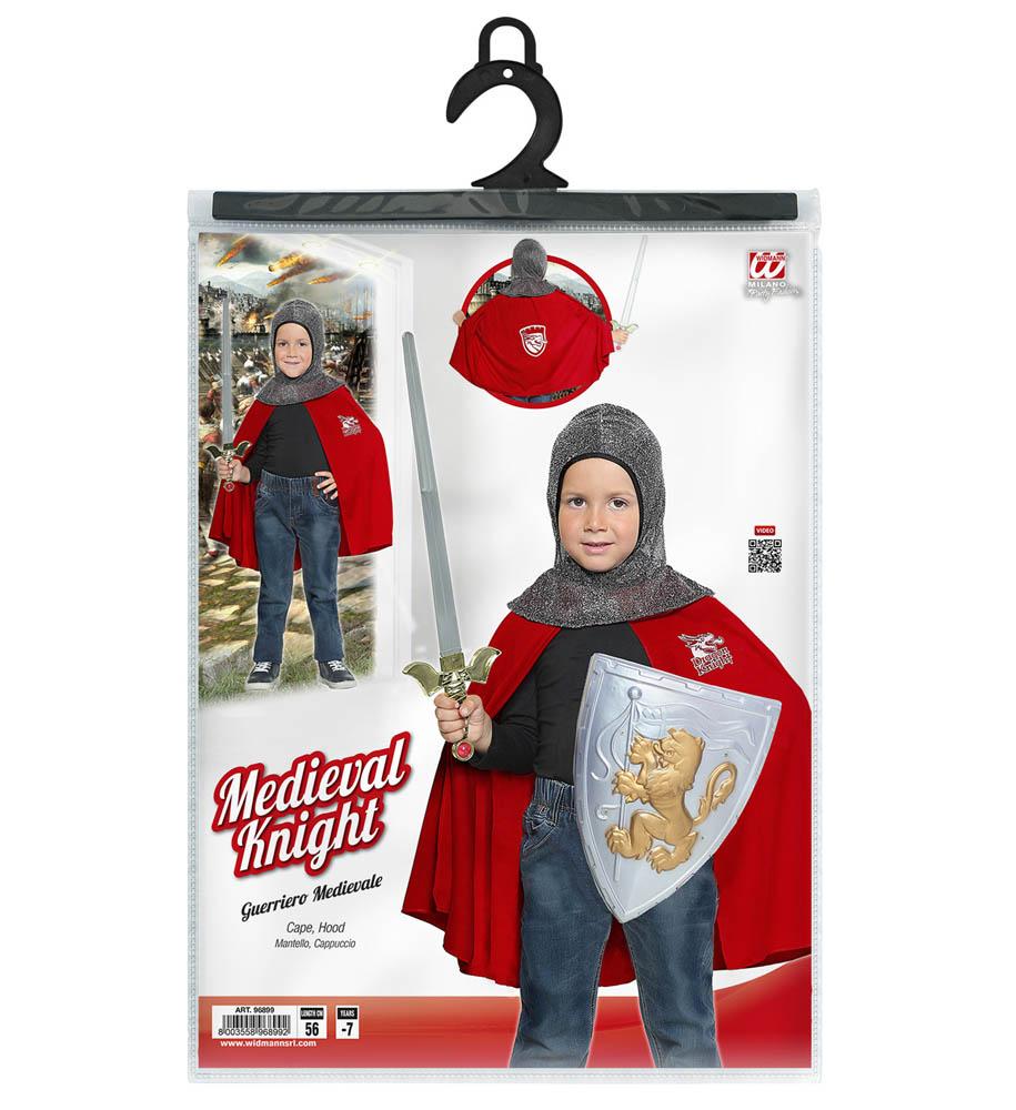 Kostim za djecu Vitez, veličina za dob do 7 godina. Savršen je za igru, lude partije ili karnevalske povorke. U pakiranju se nalazi plašt i kapuljača.