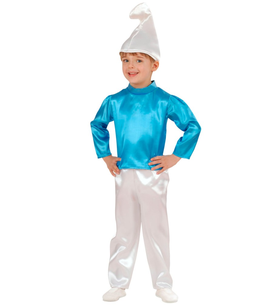 Dječji kostim Patuljak Štrumf je kostim namijenjen djeci od 1-2 ili od 2-3 godine. Savršen je za igru, zabavu, lude partije ili karnevalske povorke.