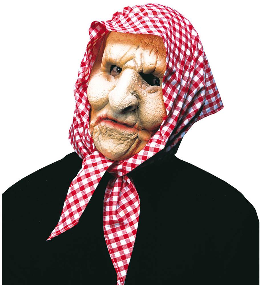Maska za karneval Starac/Starica. Maska je izrađena od gume, dolazi sa kapom ili maramom. Savršena je za lude partije, proslave Halloweena ili karnevalske povorke.