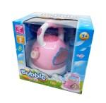Dječji aparat za balone od sapunice, sa muzikomi svjetlom. Uz ovaj veseli aparat za izradu balona od sapunice u obliku čajnika, ne morate se više mučiti puhati balone.