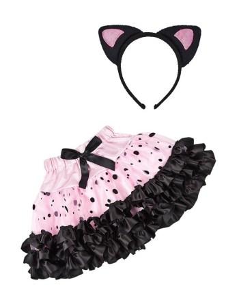Dječji karnevalski kostim, Set za mačkicu. Savršen je za lude partije, proslave Halloweena ili karnevalske povorke.