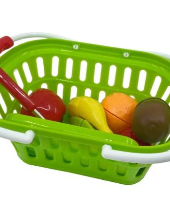 Košarica sa voćem na čičak, sa dodacima. Ova prekrasna košarica za kupovinu dolazi sa pregršt dodataka.