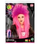 Perika za djecu, Punk florescentna roza, karnevalska perika. Savršena je za maskiranje, lude partije, proslave Halloweena ili karnevalske povorke.
