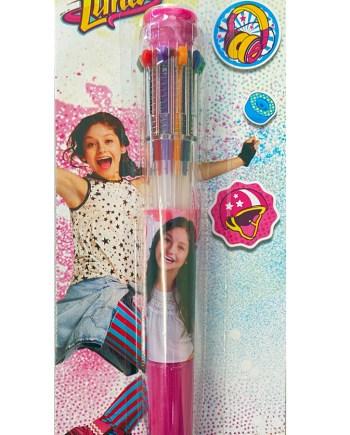 Kemijska olovka Soy Luna sa 10 izmjenjivih boja. Raznobojna kemijska sa 10 različitih boja. Praktična kemijska olovka savršena sa svakog školarca. !0 kemijski u samo jednoj!