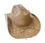 Slamnati Cowboy šešir, Kaubojski šešir. Prekrasni, prozračan, lagani ljetni kaubojski šešir. Izrađen je od papirnate slame