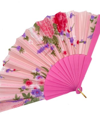 Lepeza 23cm u boji sa cvijetnim uzorkom. Lepeza je savršen dodatak za vruće, ljetne dane.