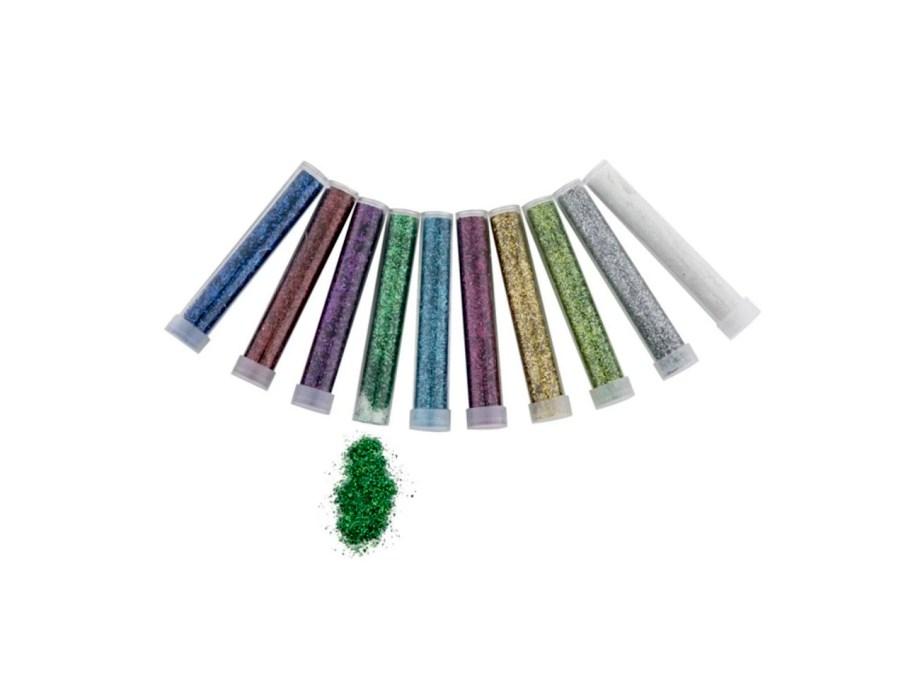 Šljokice u tubi od 6 grama, 10 raznobojnih tuba sa gliterom. Proizvod je savršen za kreativno izražavanje, ukrašavanje, dekoriranje.