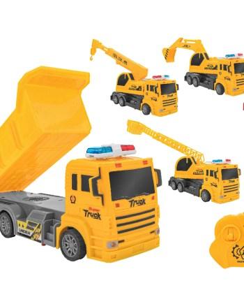 Kamion na daljinski Super Truck, 4 modela. Ovaj model kamiona na daljinsko upravljanje idealan je za sve ljubitelje radnih vozila. Ima mogućnost kretanja u svim smjerovima.