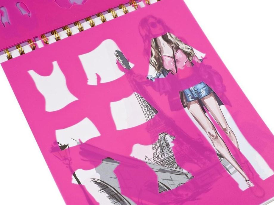 Kreativna modna knjiga, Fashion Creativity book. Ova modna knjiga savršena je za kreativnu djecu. Uz pomoć ove kreativne modne knjige djeca će moći dizajnirati svoje vlastite modne kracije.