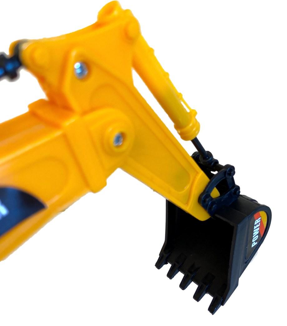 Igrčka bager rovokopač, Builder. Pakiran u kutiji dimenzija 32.5x17x12, ovaj rovokopač savršen je kako za igru u prirodi tako i za igru u kući.