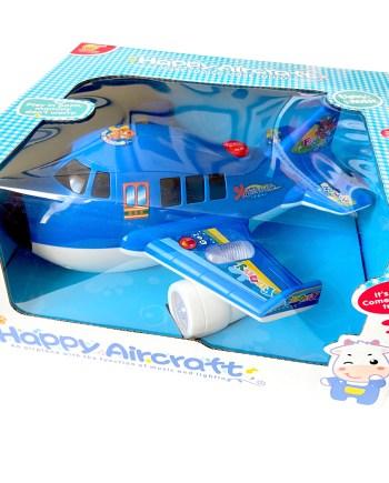 Avion na baterije sa svjetlom i zvukom, savršena je igračka za igranje satima. Avion radi na baterije, svijetli i proizvodi zvuk.