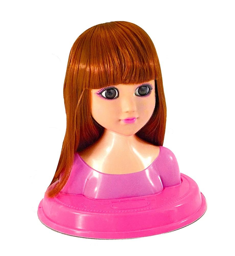 Lutka sa kosom za izradu frizura, 2 različite. Sve što je potrebno za igranje frizerskog salona je ova glava lutke sa dugom kosom kojoj uvijek iznova dijete može češljati i izrađivati razne frizure.