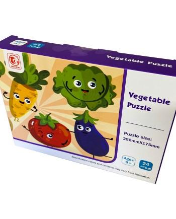 Dječje puzzle povrće i domaće životinje 24 komada. Ove visoko kvalitetne puzzle izrađene su od tvrdog kartona. U pakiranju se nalazi 24 komada.