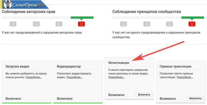 Монетизация Ютуб канала