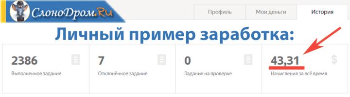 Личный пример заработка на Яндекс Толока