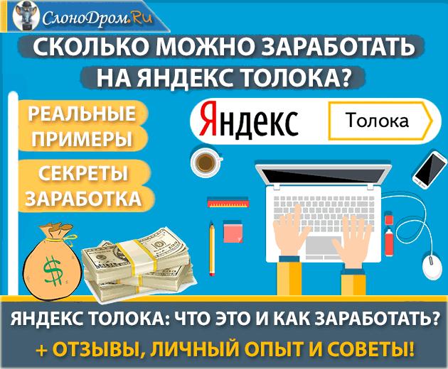 Сколько можно заработать на Яндекс Толока - отзывы