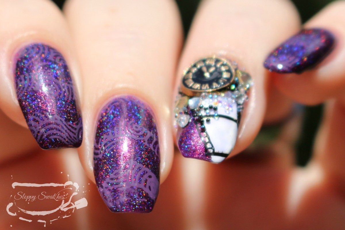 nail art august 2017 night owl