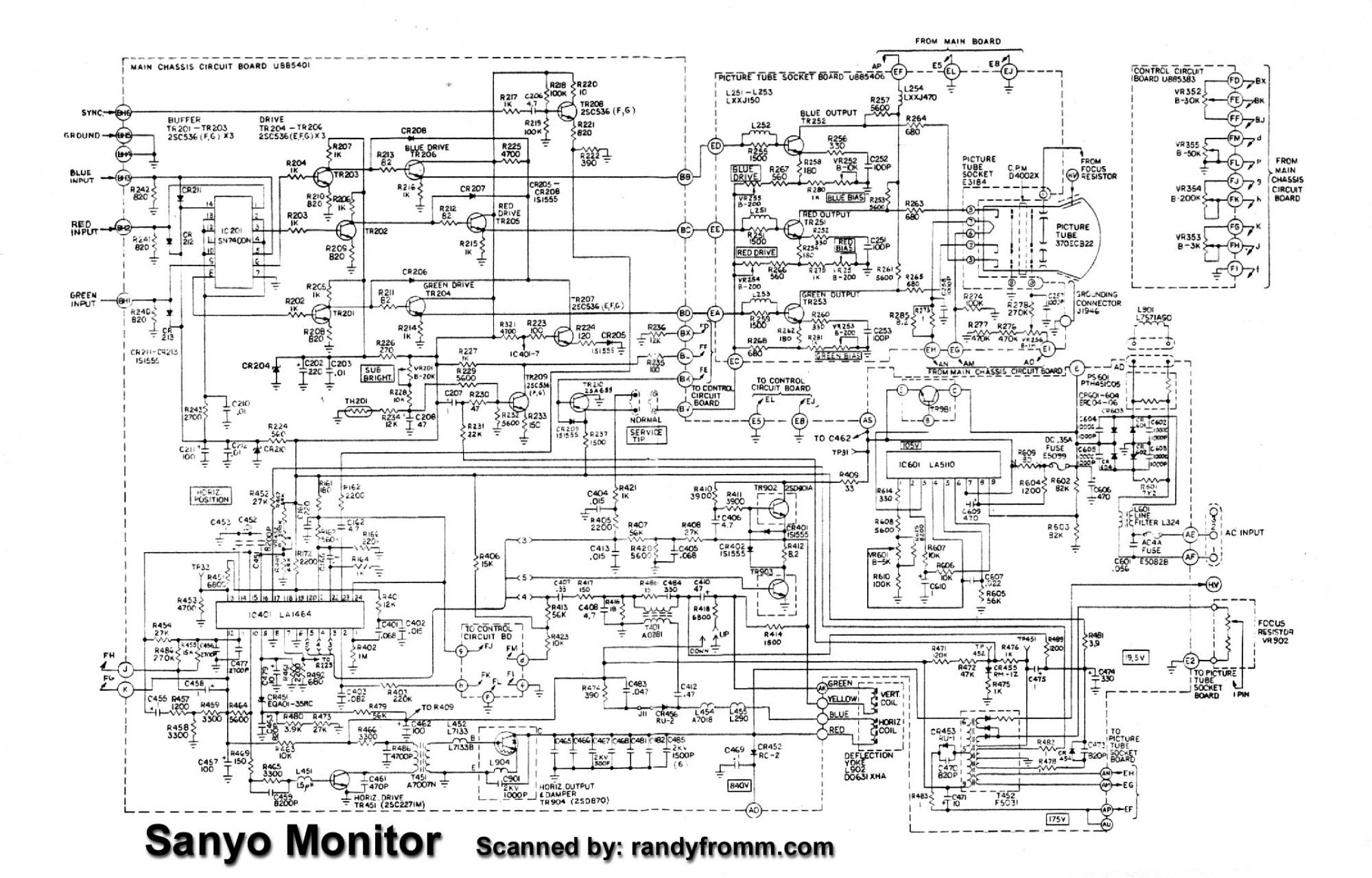 hight resolution of sanyo schematic diagram wiring diagram detailed television circuit diagrams sanyo tv circuit diagram