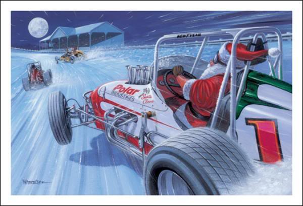 Christmas Cards From Here And There General Slot Car
