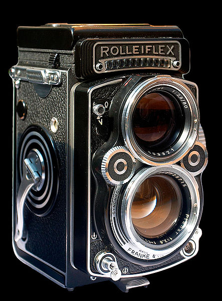 A Rolleiflex 2.8F TLR (image: Wikipedia)