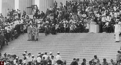 King delivers his seminal speech, 50 years ago today (Image: Library of Congress)