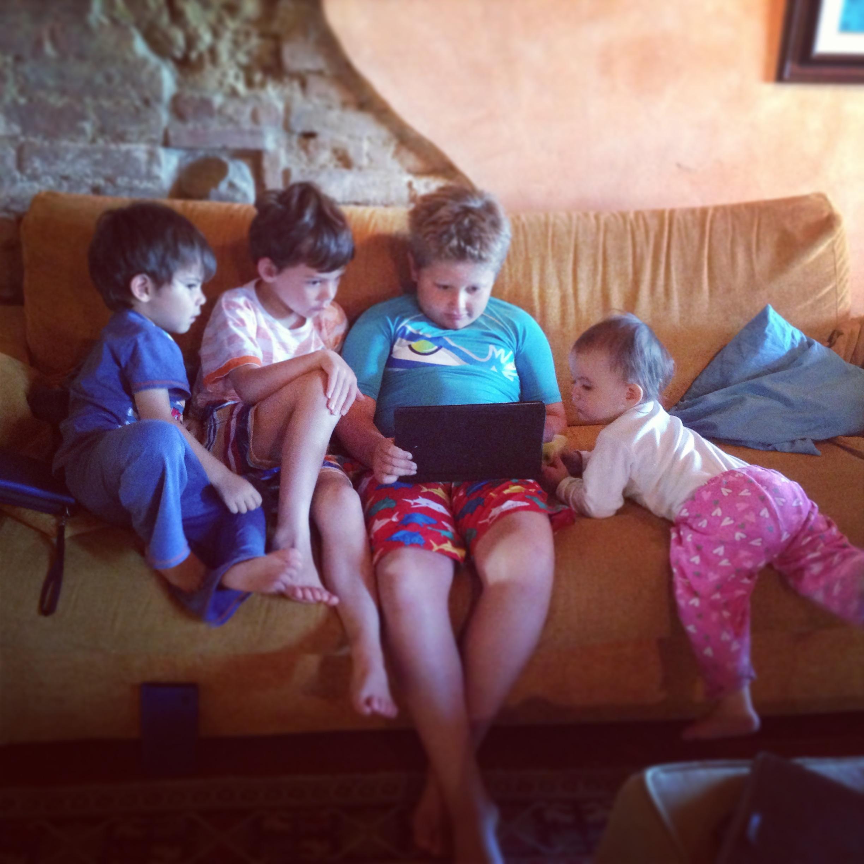 Watching iPad