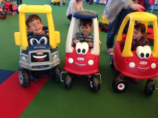 Butlins kids Little Tikes cars