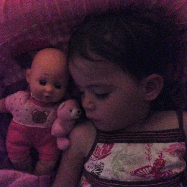 Kara sleeping