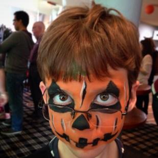 Isaac pumpkin face